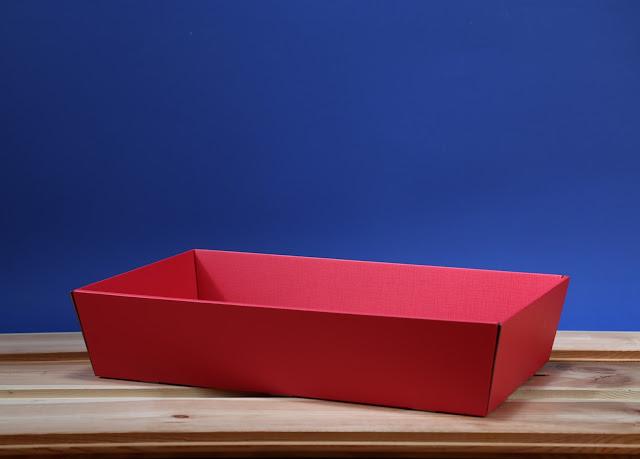 Kosz prezentowy prostokątny 25 x 46 czerwony