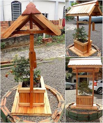 decoracion para jardin con pallets de madera desarmado