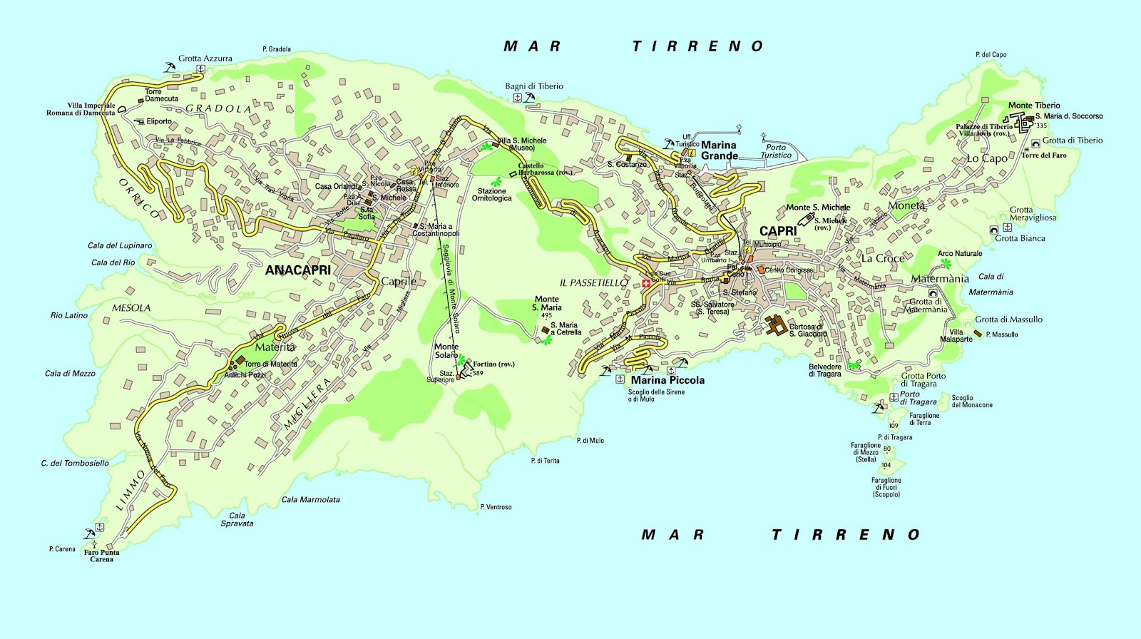 capri italia mapa Capri Italia Mapa capri italia mapa