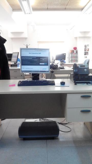 Foto de mi puesto de trabajo con Consultoria-SAP