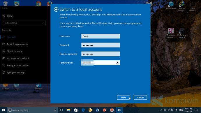 cara hapus akun microsoft windows 10