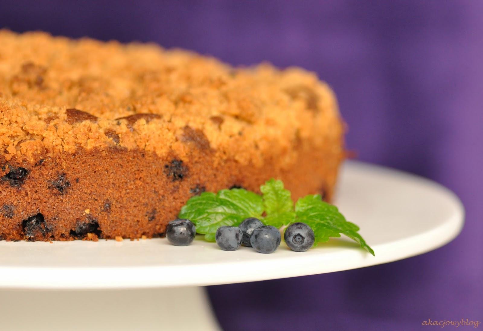 Jagodowe ciasto kawowe.