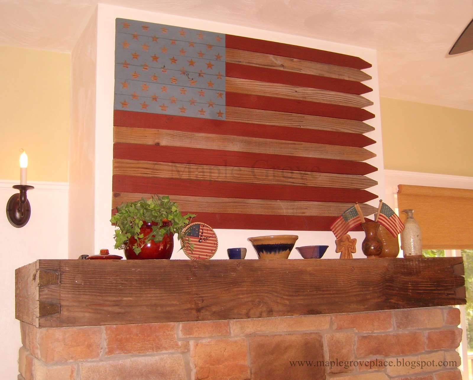 Maple Grove How To Make A Picket Fence American Wall Flag