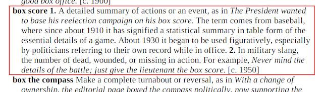 Arti Box Score