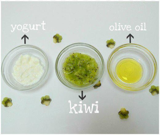 Cách trị mụn cực hay với kiwi và sữa chua