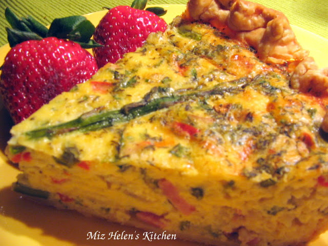 Ham and Asparagus Quiche