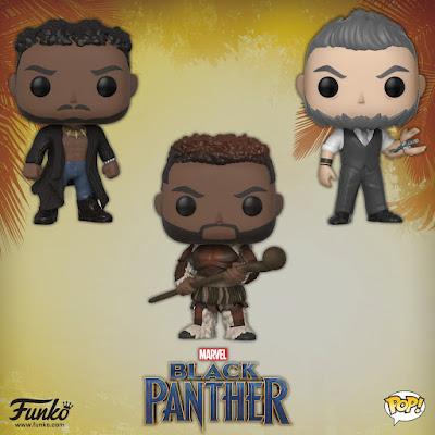 Black Panther Movie Pop! Marvel Series 2 Vinyl Figures by Funko
