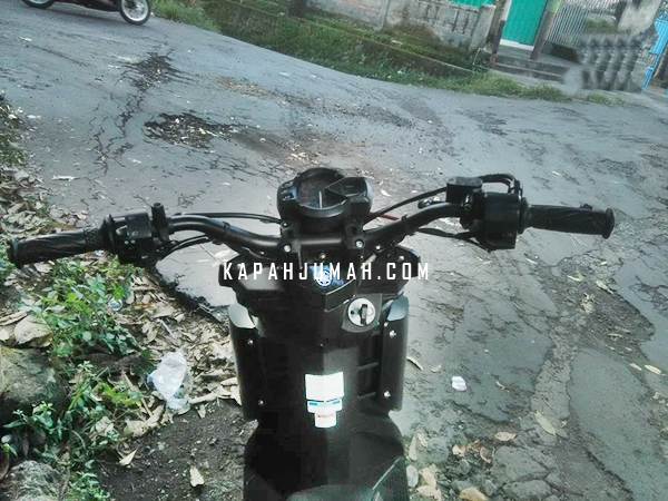 Modifikasi Yamaha X Ride Black Matte Supermoto