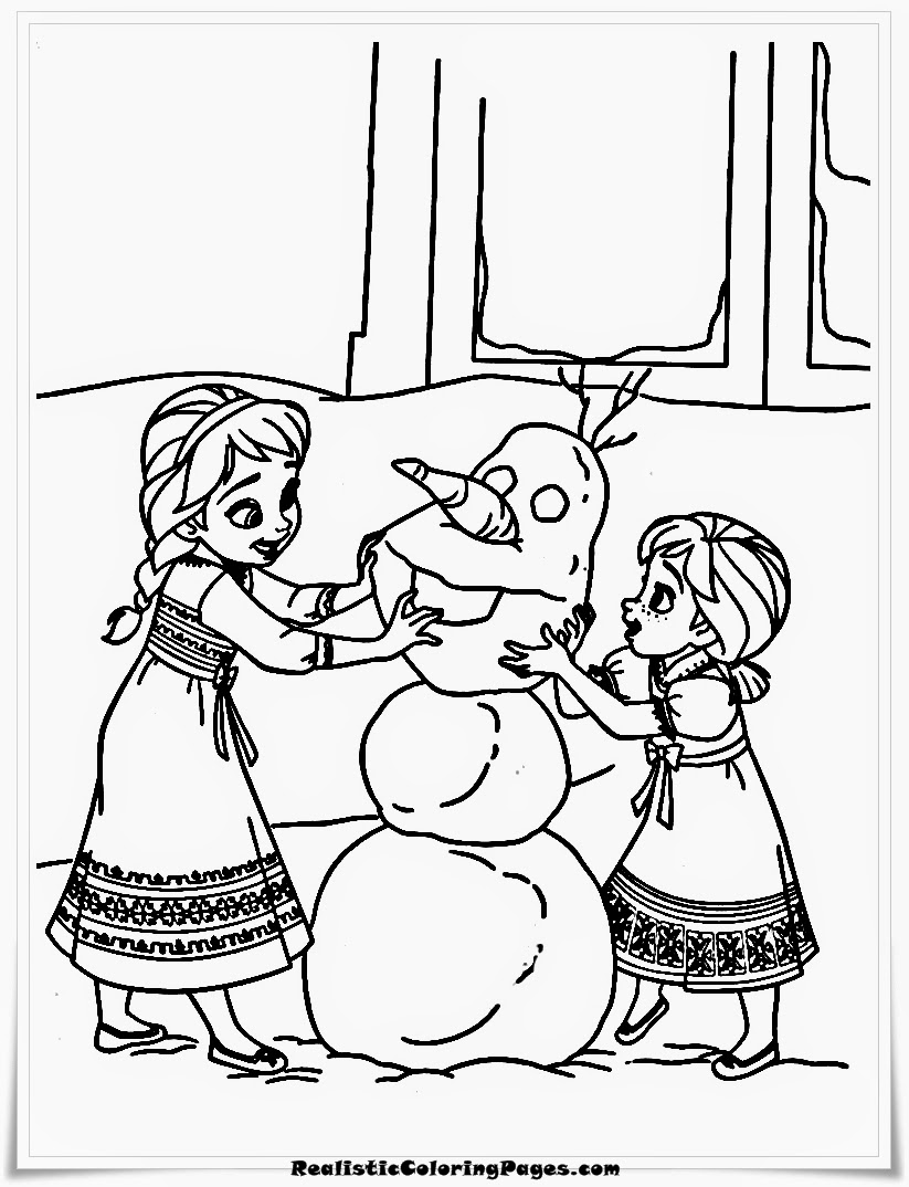 frozen coloring pages of elsa and anna