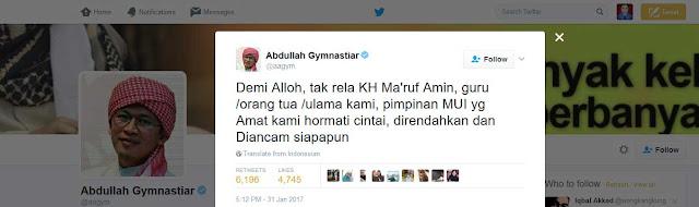 Aa Gym: Demi Alloh, Tak Rela Sikap Perbuatan Ahok Rendahkan KH Ma'ruf Amin