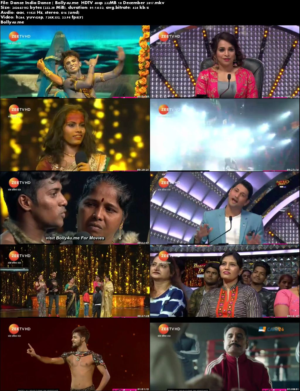 Dance India Dance HDTV 480p 200MB 10 December 2017 Download
