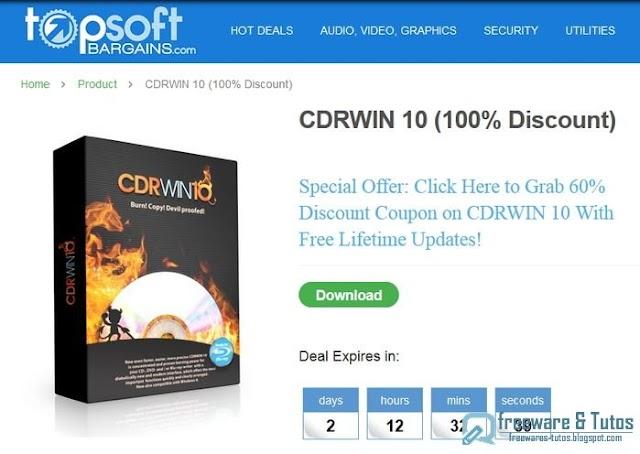 Offre promotionnelle : CDRWIN 10 à nouveau gratuit !