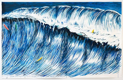 Raymond Pettibon's No Title (but the sand...)