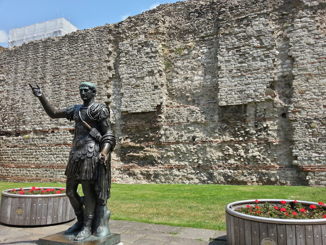 Statue of Trajan, by City Wall, Tower Hill, London