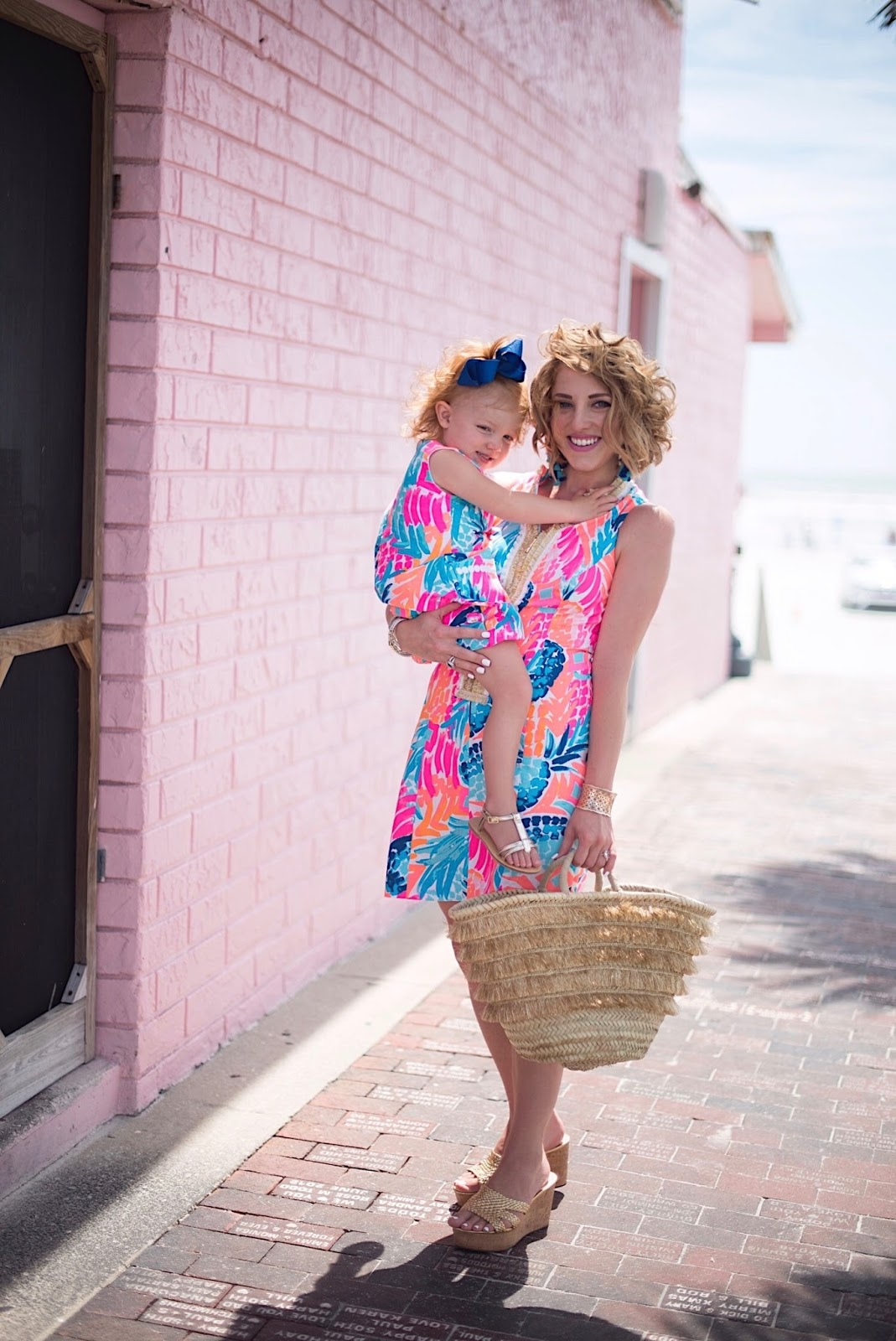 Mommy & Me Lilly Pulitzer - Click through to see more on Something Delightful Blog!