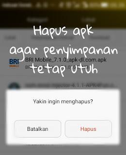 download aplikasi ketika penyimpanan tinggal sedikit