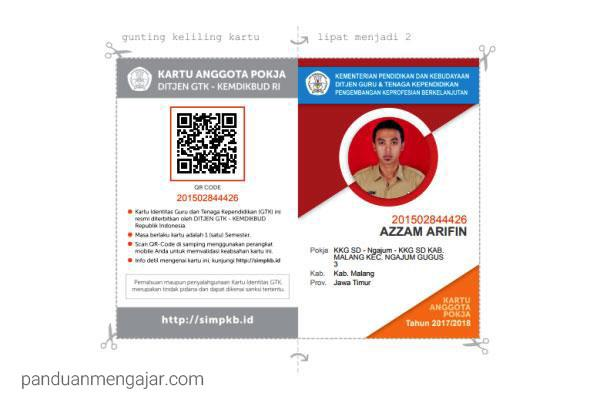 cetak kartu anggota pokja sim pkb