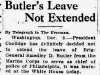 StevenWarRan Research: Smedley Butler 1920-1930