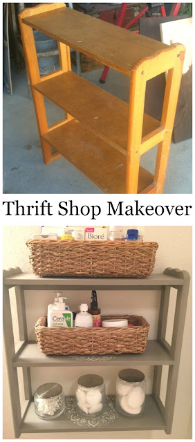 Thrift Shop Makeover: Upcycled Bathroom Storage organizedclutter.net