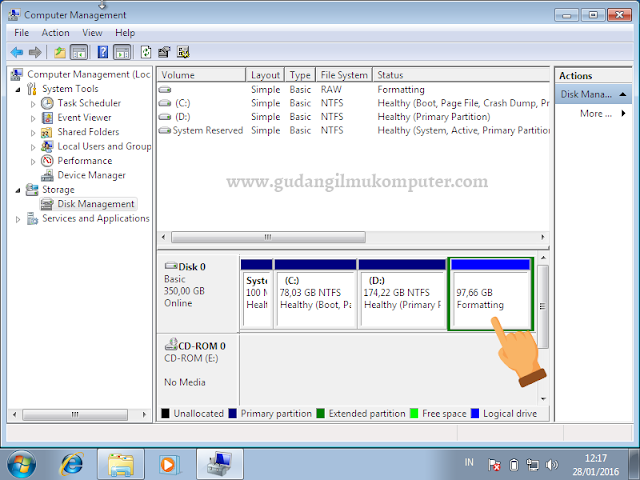 Cara Membagi Partisi Hard Disk Di Windows 7