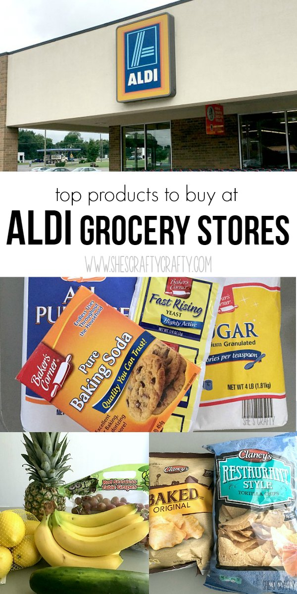 produce, baking products, chips at Aldi