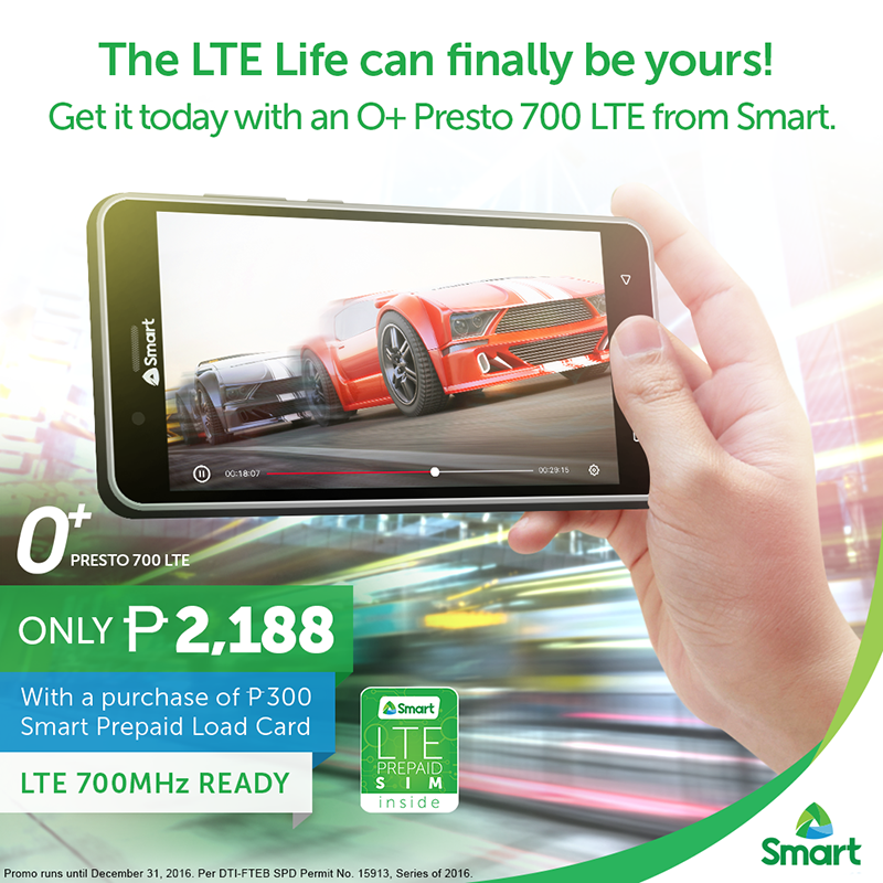O+ Presto 700 LTE Announced, A 700 MHz LTE Ready Phone Priced At PHP 2188 Only!