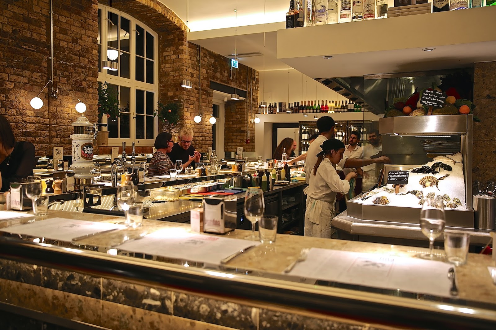 glass kitchen tables oven the london foodie: barrafina drury lane: exquisite spanish ...
