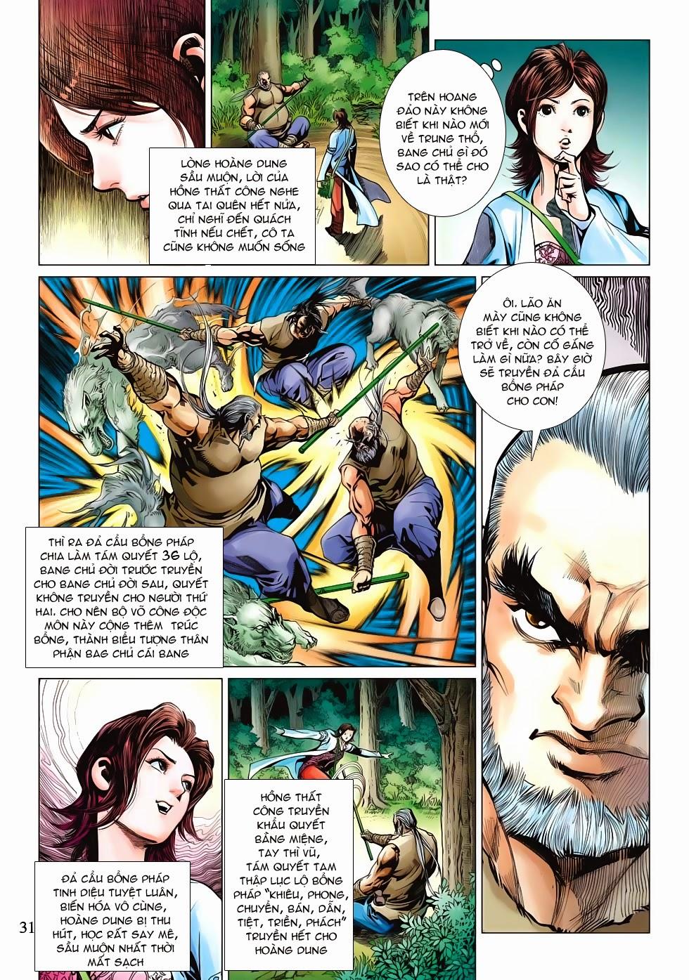 Anh Hùng Xạ Điêu anh hùng xạ đêu chap 53: lâm nguy thụ mệnh đả cẩu học pháp trang 32