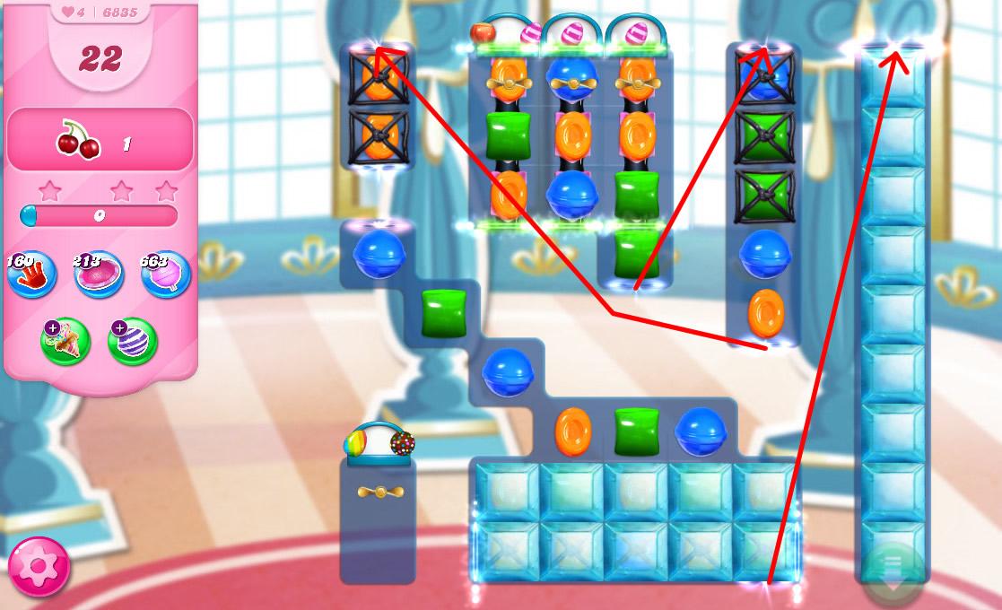 Candy Crush Saga level 6835
