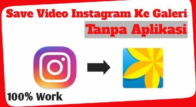 cara menyimpan instagram story tanpa aplikasi ke galeri