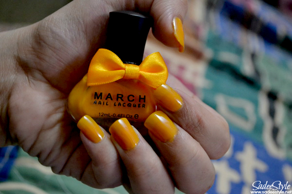 March Sweet Candy Colors Nail Art Polish Lacquer Yellow