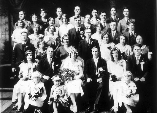 Polish Canadian Wedding, 1930s