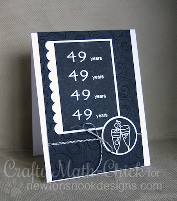 49th anniversary card by Crafty Math Chick | Years for Cheers by Newton's Nook Designs