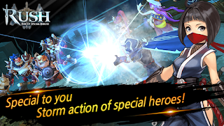 RUSH : Rise up special heroes Apk Mod v1.0.50 Full Version