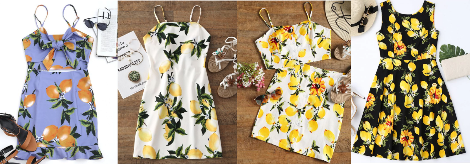 LEMON PRINT DRESSES
