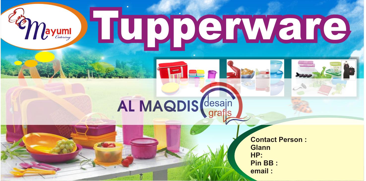 Desain banner tupperware yang natural dan asyik