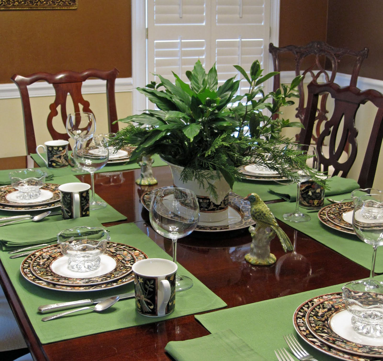 Dining Room Tablescapes: Tablescape Times Three: A Jungle In My Dining Room