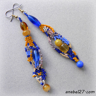 seed bead earrings jewelry free form peyote