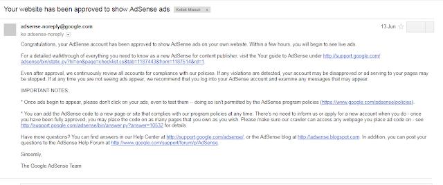 Tips Agar Diterima Google Adsense 100% Berhasil (Berdasarkan Pengalaman) 2