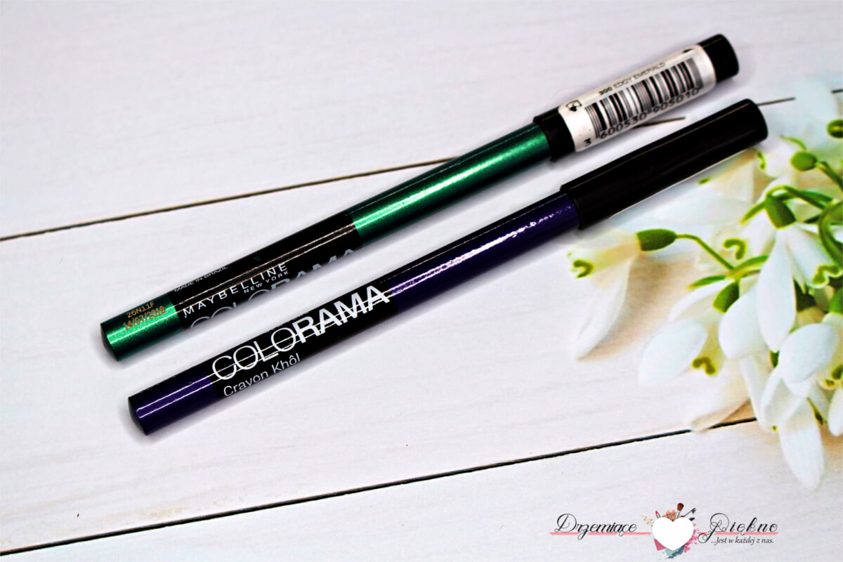 Maybelline, Colorama Crayon Khol  320 Vibrant Violet , 300 Edgy Emerald