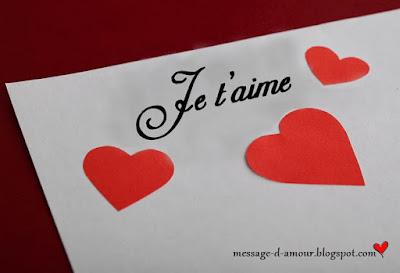 Mots d'amour tendresse je t'aime