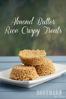 Healthy Honey Almond Butter Rice Crispy Treats Recipe