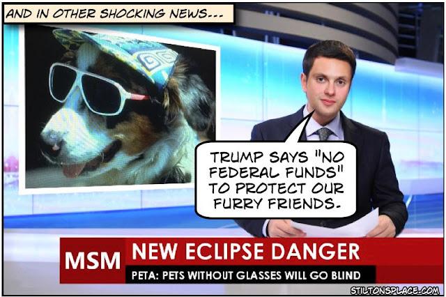 stilton's place, stilton, political, humor, conservative, cartoons, jokes, hope n' change, trump, condemn, eclipse, PETA
