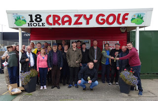 The On the Buses Fan-club at Prestatyn's Crazy Golf course