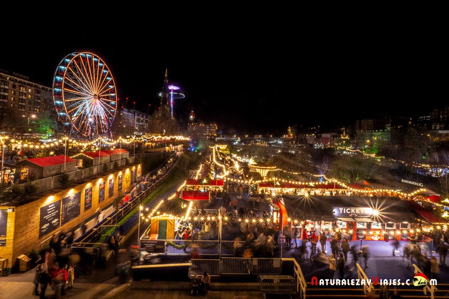 Mercado de navidad en Edimburgo