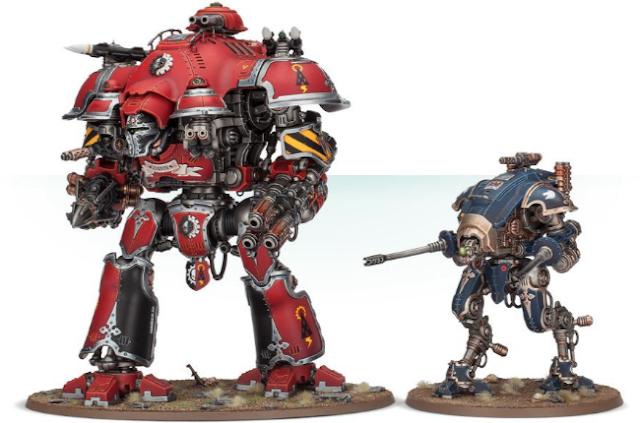 comparativa Imperial Knight Valiant - Armiger Helverin