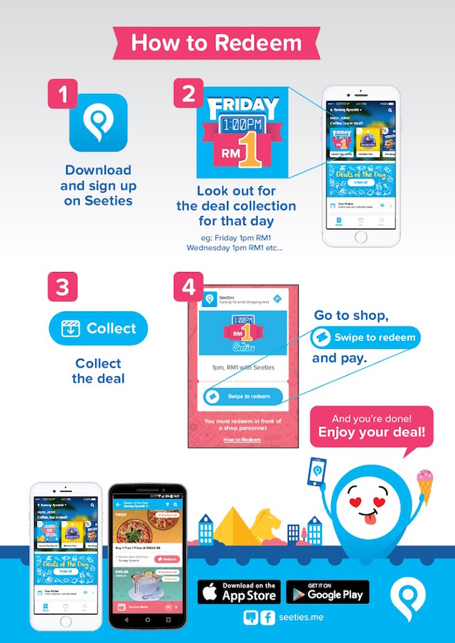 Step by Step to Redeem your deal from Seeties app