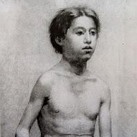 Pablo Picasso dibujo torso adolescente