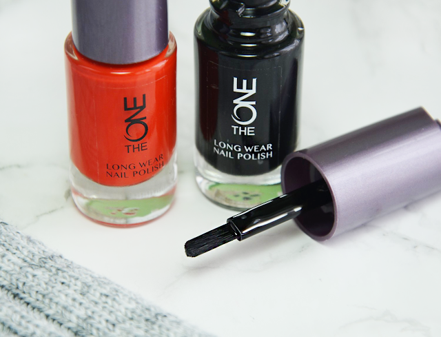 Oriflame The One Long Wear Nail Polish in Orange Spectre and Black Trick