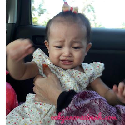 dhia zahra, bayi setahun, anak dara comel, ragam anak